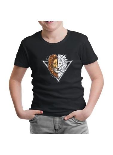 Lord Tshirt Aslan Triangle Siyah Çocuk Tshirt Siyah